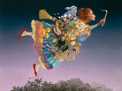 "James Christensen Limited Edition Infinity Aluminum Giclee:""The Responsible Woman"""