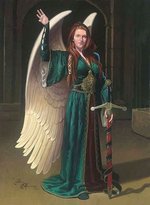 """Dean Morrissey Artist Hand-Signed Limited Edition Giclee Canvas:""""Bridget the Celtic Angel"""""""