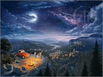 "Zachary Kinkade limited edition giclée on canvas:""Beyond the Farthest Star"""