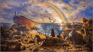 "Zachary Kinkade limited edition print on canvas:""Noah's Ark"""