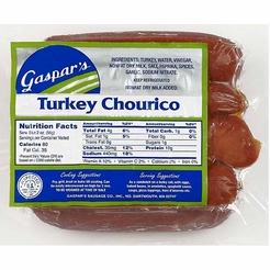 * Gaspar's Turkey Chourico Franks 1 lb.