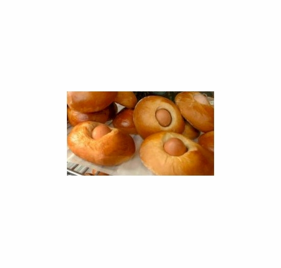 * Portuguese Mini Easter Sweetbread with 1 Hard Boiled Egg (6 Pack)