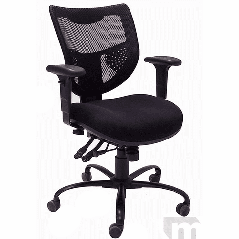 24/7 400 lbs. Capacity Multi-Function Mesh Office Chair w/Adjustable Sliding Seat Depth