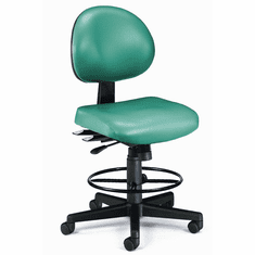 """24-Hour Antimicrobial Vinyl Stool - 23""""-27""""/ 27""""-31""""H Seat Height"""