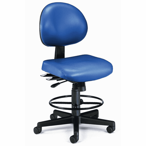 """24-Hour Antimicrobial Vinyl Lab Stool - 23""""-27""""/ 27""""-31""""H Seat Height"""