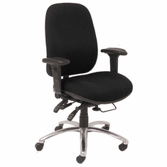 24 Hour 400 Lbs. Capacity Multi-Shift Intensive Use Ergonomic Chair in Black