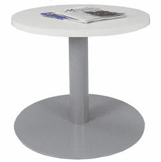 "24"" Round Metal Disc Base Waiting Room Table"