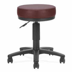 "3"" Padded Medical Stool w/ Antimicrobial Vinyl - 18"" - 22""H Seat"