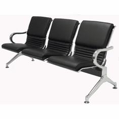 3-Seater Upholstered Beam Seating