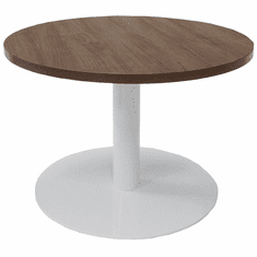 "30"" Round Metal Disc Base Waiting Room Table"