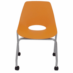 300 lb. Capacity Molded Plastic Classroom Chair w/ Wheels