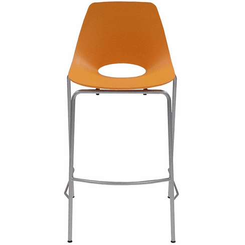 "300 lb. Capacity Molded Plastic Shell Stackable Office Stool w/29.63"" Seat Height"