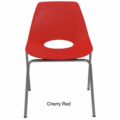 300 Lbs. Capacity Molded Plastic Shell Stacking Chair