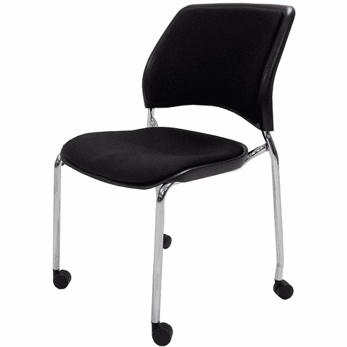 300 lb.Capacity Padded Stacking Chair on Casters