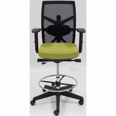 "300 Lbs. Capacity Multi-Function Office Stool w/Seat Slide - 21.5""-29.5"" Seat Height"