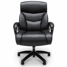350 Lbs. Capacity Big & Tall Black Leather Executive Chair