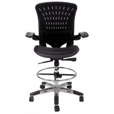 "350 Lbs. Capacity ErgoFlex All-Mesh Office Stool - 23""-30"" Seat Ht."
