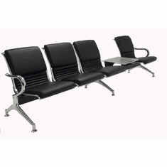 4-Seater Upholstered Beam Seating w/Magazine Table