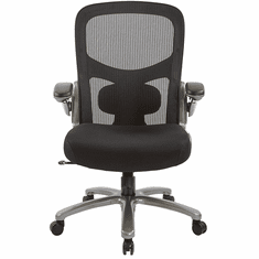 400 Lbs. Capacity Memory Foam Mesh Office Chair w/Flip Up Arms