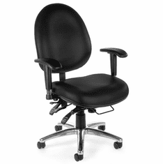 400 lb Capacity Multi-Shift Big & Tall Ergonomic Chair in Black Vinyl