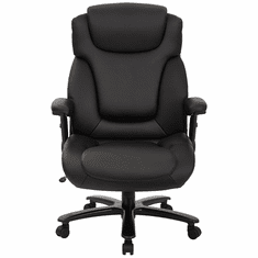 """400 Lbs. Capacity Extra Wide Black Leather Office Chair w/ 25""""W Seat"""
