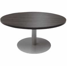 "42"" Round Metal Disc Base Waiting Room Table"