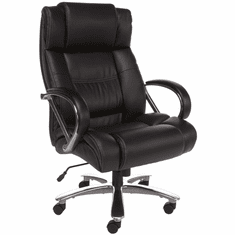 500 Lb. Capacity Big & Tall High Back Office Chair in Black or Brown