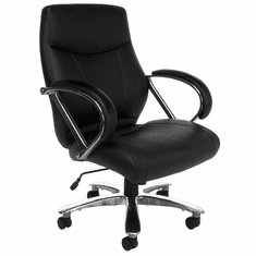500 Lb. Capacity Big & Tall Mid Back Office Chair In Black