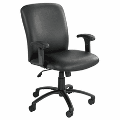 500 Lbs. Capacity High Back Big & Tall Chair in Black Fabric or Vinyl