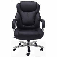 500 Lbs. Capacity Executive Black Leather Office Chair