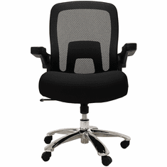 500 Lbs. Capacity Mesh Black Big & Tall Office Chair w/Flip Up Arms