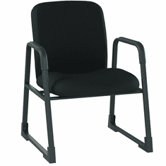 500 Lbs. Capacity Sled Base Guest Chair in Black Fabric or Vinyl