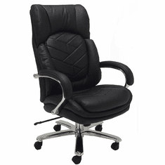 500 Lbs. Heavyweight Leather Office Chair in Black or Brown