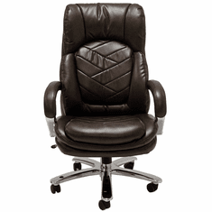 500 Lbs. Heavyweight Leather Office Chair in Brown or Black