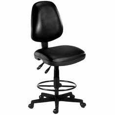 "Antimicrobial Vinyl Drafting Stool - 23""- 27""/27"" - 31""H Seat"