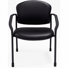 Antimicrobial Vinyl Reception Chair with Casters & Glides