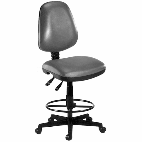 "Antimicrobial Vinyl Stool - 23""- 27""/27"" - 31""H Seat"