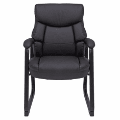 Big & Tall 400 lb. Capacity Bariatric Black Leather Guest Chair