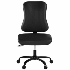400 Lbs. Capacity Big & Tall Black Fabric Armless Task Chair