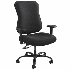 400 Lbs. Capacity Big & Tall Black Fabric Task Chair w/Arms