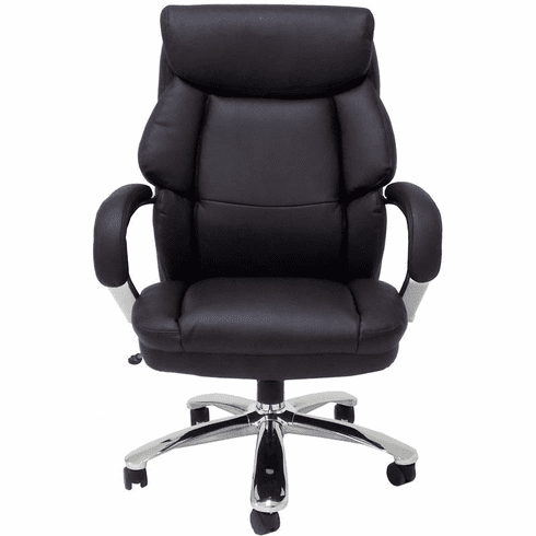 "Big & Tall Extra Wide 500 lb Capacity Leather Office Chair w/ 24""W Seat"