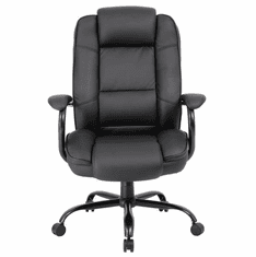 400 Lbs. Capacity Black Bonded Leather Big & Tall Conference Chair