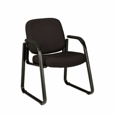 Black Fabric Sled Base Guest Chair