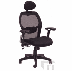 Black Mesh Back Ergonomic Office Chair with Headrest