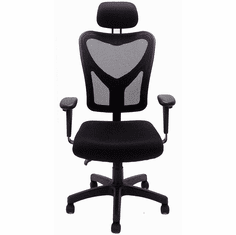 Black Mesh Multi-Function Ergonomic Office Chair w/Headrest