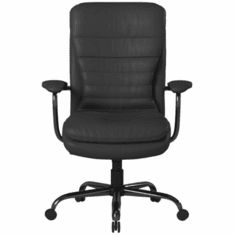 400 Lbs. Capacity Black Polyurethane Heavy Duty Executive Chair