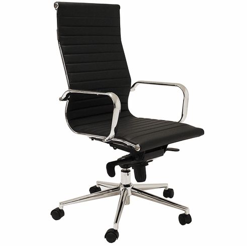 Contemporary Classic High Back Leather Office Chair