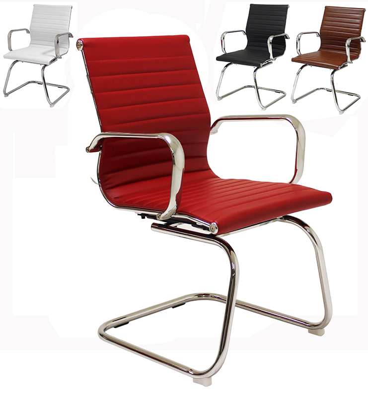 Contemporary Clic Leather Office Guest Chair 5 Png