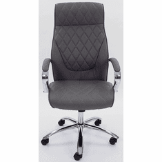 Diamond Stitched High Back Swivel Office Chair in Gray or Black