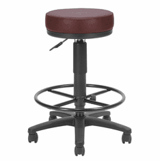 "Drafting Height Stool w/Antimicrobial Vinyl - 23""-27""/27""-31""H Seat"
